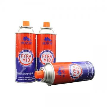 Portable butane gas canister for outdoor and butane canister for camp stove
