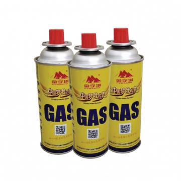NOZZLE VALVE TYPE Butane Refill Gas Canister 400ml 220g butane gas canister camping butane