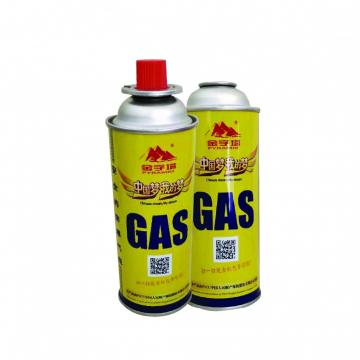 MSDS ISO Butane Gas Cylinder fuel transfer equipment radiographic inspection lpg cylinder butane gas 300ml