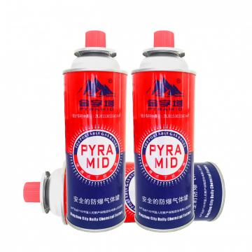 Explosion Proof Butane gas canister 220g and tinplate BBQ butane gas cartridge